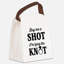 Buy Me a Shot, I'm Tying the Knot Canvas Lunch Bag