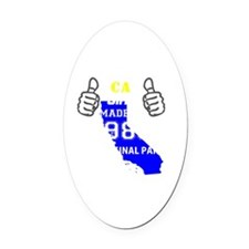 Made in california Oval Car Magnet