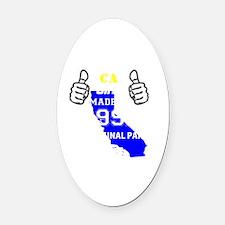 Cute Made in california Oval Car Magnet