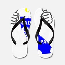 Funny Made in california Flip Flops