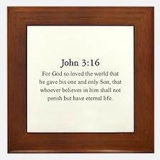 John 3:16 Framed Tile