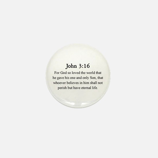 John 3:16 Mini Button