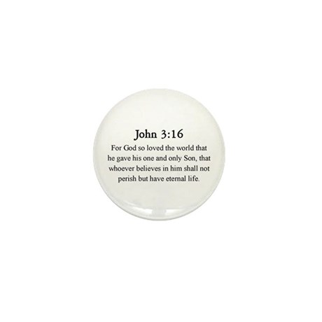John 3:16 Mini Button (10 pack)