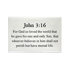 John 3:16 Rectangle Magnet