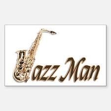 Jazz man sax saxophone Rectangle Decal