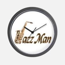 Jazz man sax saxophone Wall Clock
