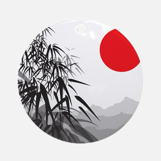 Asian Landscape Ornament (Round)