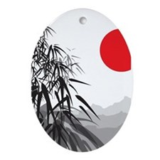Asian Landscape Ornament (Oval)
