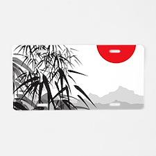 Asian Landscape Aluminum License Plate