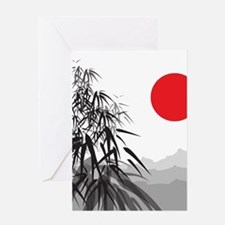 Asian Landscape Greeting Cards