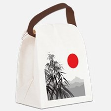 Asian Landscape Canvas Lunch Bag