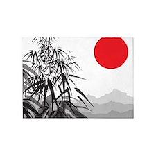 Asian Landscape 5'x7'Area Rug