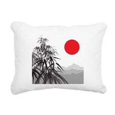 Asian Landscape Rectangular Canvas Pillow