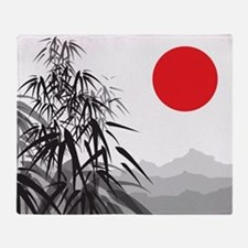 Asian Landscape Throw Blanket