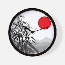 Asian Landscape Wall Clock