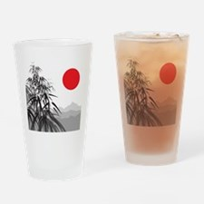 Asian Landscape Drinking Glass