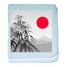 Asian Landscape baby blanket
