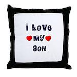 I Love MY SON Throw Pillow