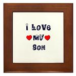 I Love MY SON Framed Tile