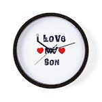 I Love MY SON Wall Clock