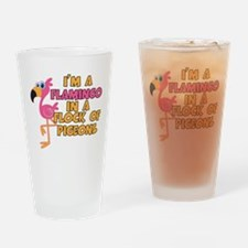 I'm A Flamingo Drinking Glass
