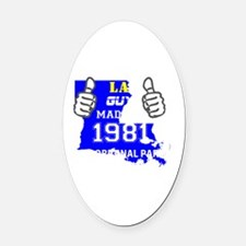 Funny Made in louisiana Oval Car Magnet