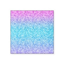 Colorful Retro Glitter And Sparkles Sticker