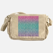 Colorful Retro Glitter And Sparkles Messenger Bag
