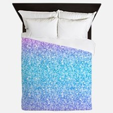 Colorful Retro Glitter And Sparkles Queen Duvet
