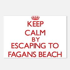 Keep calm by escaping to Fagans Beach Hawaii Postc