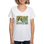 Irises & Cavalier Women's V-Neck T-Shirt