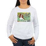 Irises & Cavalier Women's Long Sleeve T-Shirt
