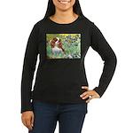 Irises & Cavalier Women's Long Sleeve Dark T-Shirt