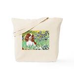 Irises & Cavalier Tote Bag