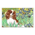 Irises & Cavalier Sticker (Rectangle)