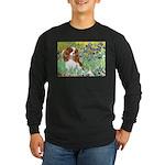 Irises & Cavalier Long Sleeve Dark T-Shirt