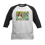 Irises & Cavalier Kids Baseball Jersey