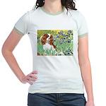Irises & Cavalier Jr. Ringer T-Shirt