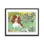 Irises & Cavalier Framed Panel Print