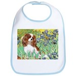 Irises & Cavalier Bib