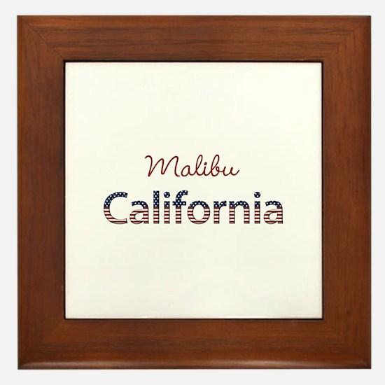 Custom California Framed Tile