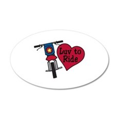 Luv to Ride Wall Decal