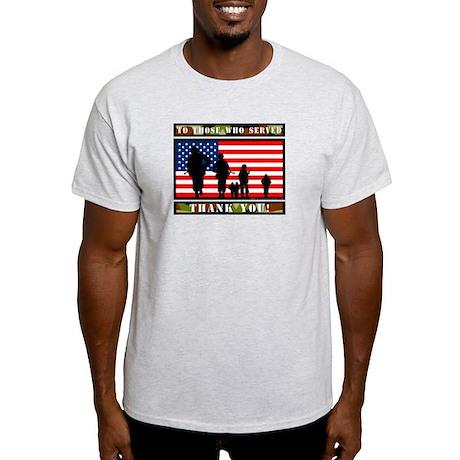 Thank You Veterans Light T-Shirt