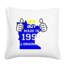 Cute Made in 1992 Square Canvas Pillow