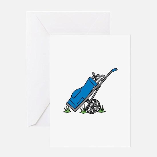 Golf Bag Caddy Greeting Cards