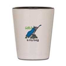 Golf Is My Bag Shot Glass
