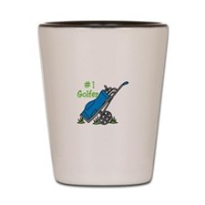 #1 Golfer Shot Glass