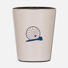 Heart Golf Tee Shot Glass