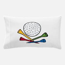 Golf Ball Tees Pillow Case