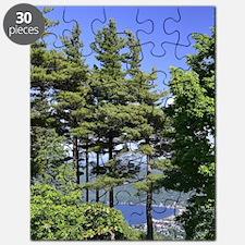 On Top Of Lake George by Cynthia Soroka-Dun Puzzle